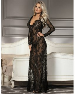 Delicate Lace Long Sleepwear Gown R80497-1P
