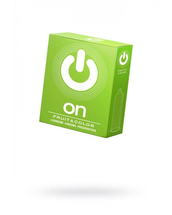 Презервативы On №3 - цветные/ароматизированные (цена за упаковку),  381